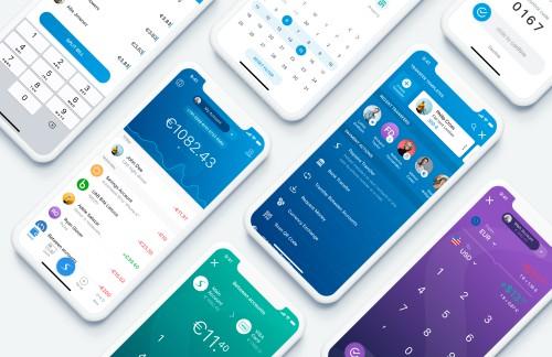 Smartphones floating